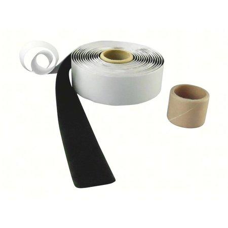 DynaLok Lusband (zachte kant) met plakstrip, 25 mm. breed, zwart, binnengebruik