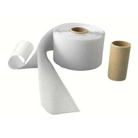 DynaLok Lusband (zachte kant) met plakstrip, 50 mm. breed, wit, buitengebruik
