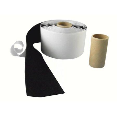 DynaLok Lusband (zachte kant) met plakstrip, 50 mm. breed, zwart, binnengebruik
