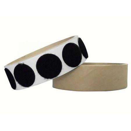 DynaLok Rondjes lusband plakbaar, 22 mm. diameter, zwart