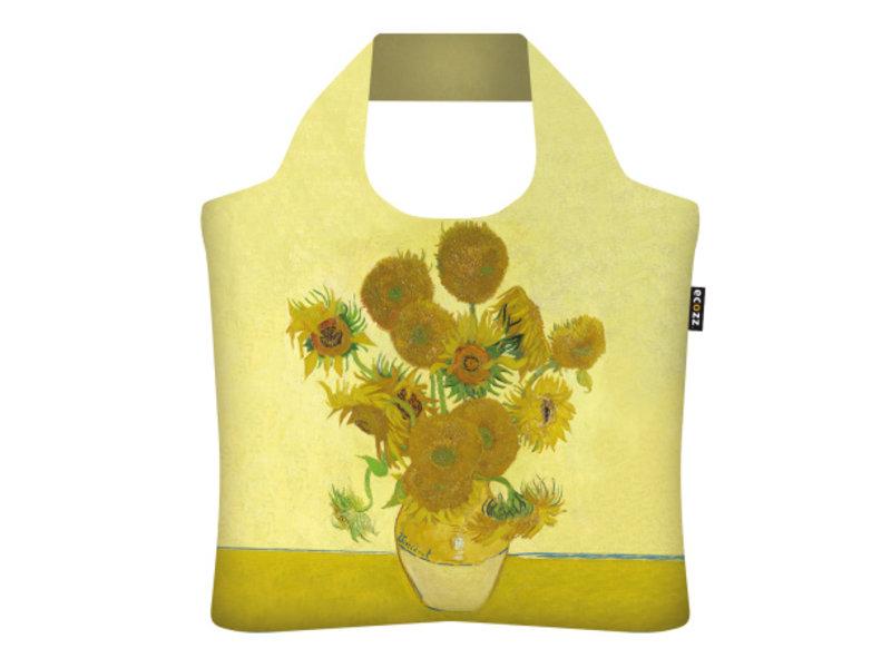 """ECOZZ Tas - Gold Edition """" Zonnebloemen van Gogh"""" """" GCVG03"""" - Scherpste ALL IN aktie prijs - Tas met rits - Opvouwbaar - Duurzaam"""