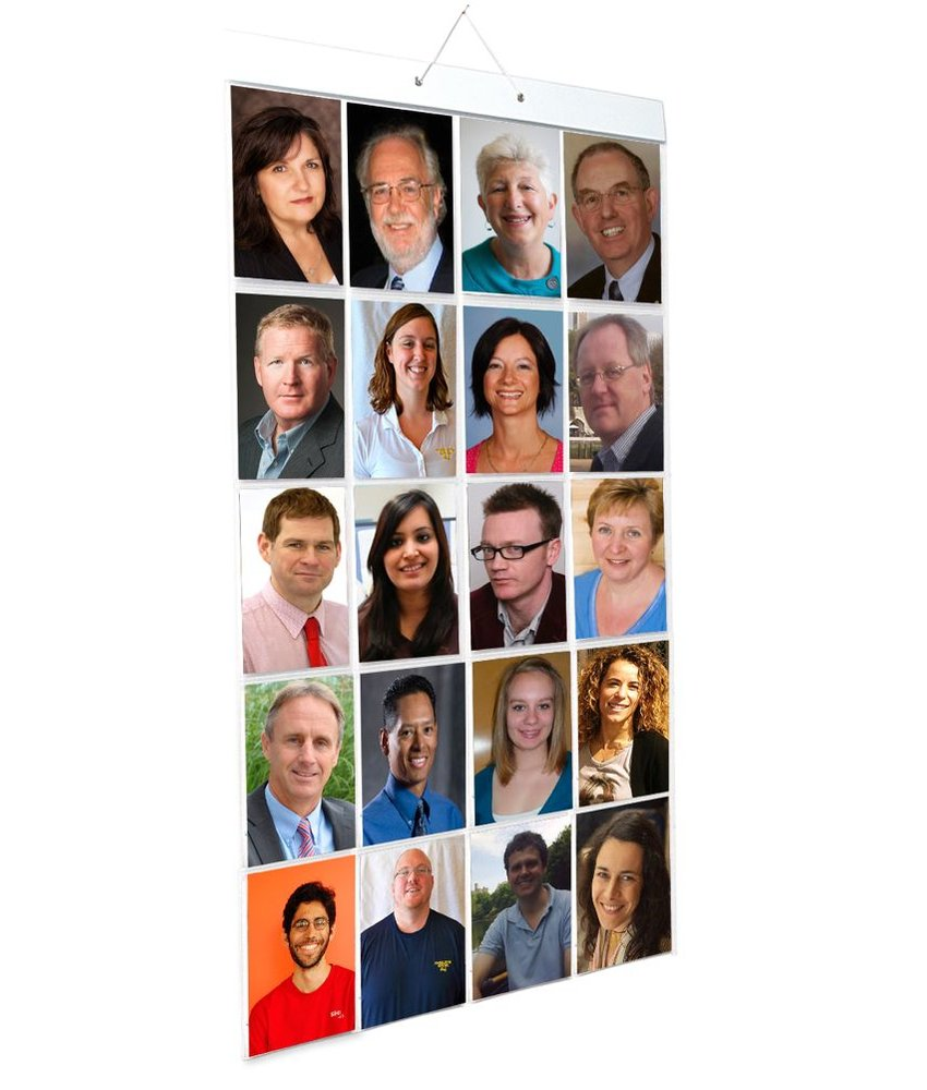 Foto Insteek Hoes Poster - PORTRET - 40 foto's in 20 insteekvakken - Alleen voor portretfoto's