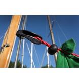 Waslijn elastisch zonder knijpers 1-4 mtr Rood