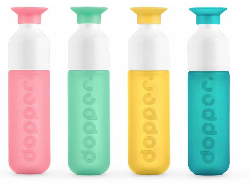 Drinkfles Waterfles DOPPER  kleur: ROZE ( Pink Paradise ) 0.45 ltr. Dopper Drinkfles ( Paradise Collection )