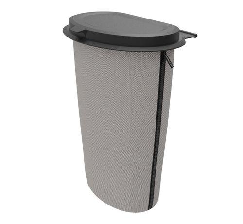 Flextrash  Flextrash Afvalbak 9 liter [L] -Knitted Grey