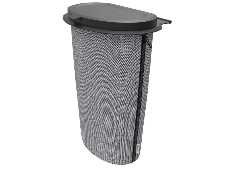 Flextrash  Prullen Afvakbak houder MAAT L = 9 liter - Stof : Complete Kvadrat  de luxe  - Graceful Grey