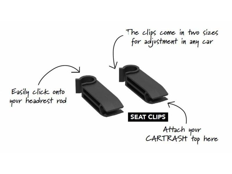 """Flextrash Flextrash - Set2 Losse """"SEAT"""" Clips om aan de hoofdsteun te bevestigen"""