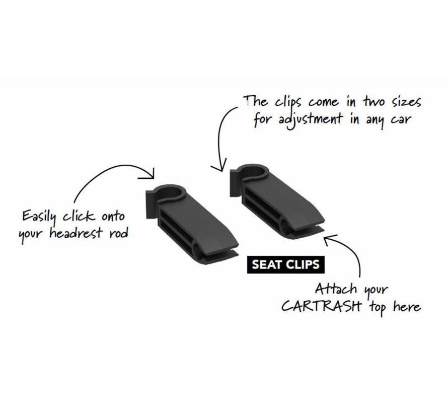 Flextrash - Losse Stoel Clips [2] om aan de hoofdsteun te bevestigen