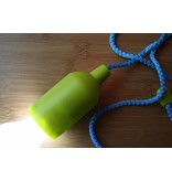 Retro Pull Lamp  1 W ( Trekkoord )  Blauw  koord en Lime groene fitting