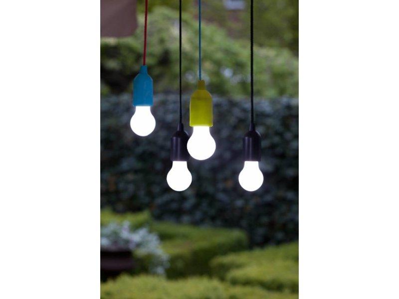 Retro Pull Lamp 1 W ( Trekkoord ) Magenta fitting en Blauw Koord