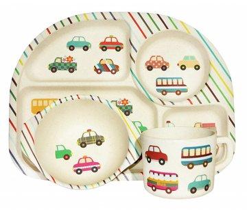 Ecoffee Cup Complete BamBoo Kinder Eet Set - Transport