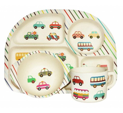 Ecoffee Cup Complete BamBoo Kinder Eet Set - Transport