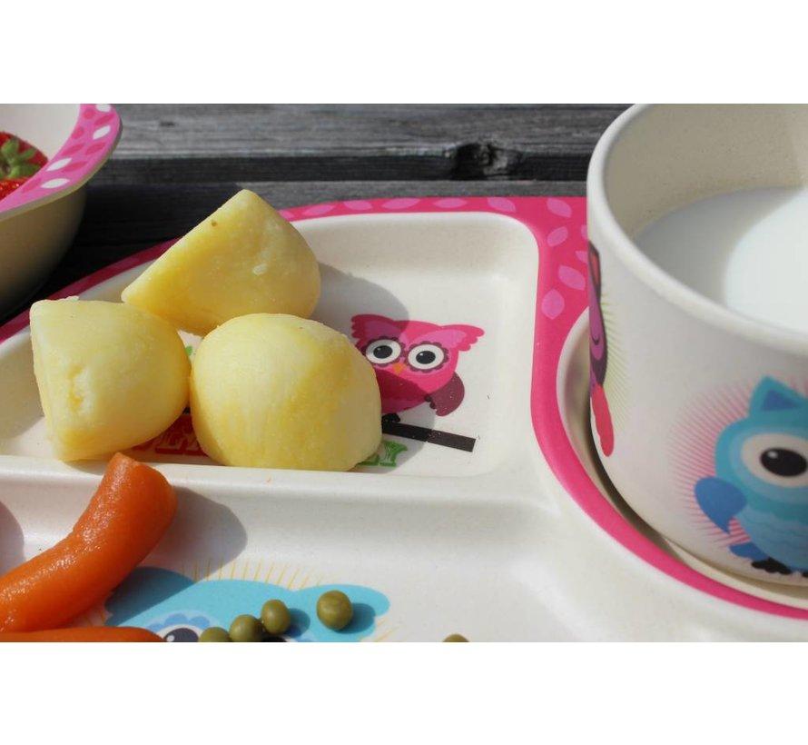 Complete BamBoo Kinder Eet Set - Uilen