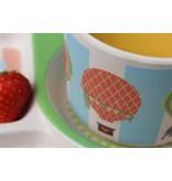 Ecoffee Cup Komplete BamBoo Kinder Eet Set - decoratie: Luchtballonen