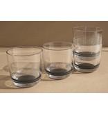 Laag Onbreekbaar Glas ( wijnglas zonder pootje ) Palm Products Marc Newson Zwarte voet antislip - TRITAN