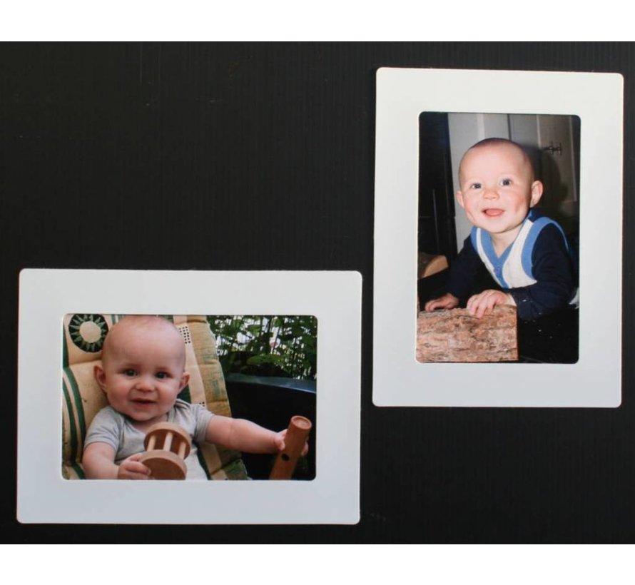 Her-Plakbare Fotolijstjes Wit [2 Stuks] + 2 bonus midilijstjes