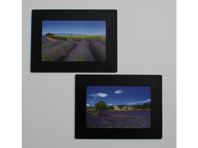 Her-Plakbare Fotolijstjes  ZWART  2 x set 2 + 4 midi  bonus lijstjes  ( voor foto's 10 x 15 cm en 10 x 6 cm )