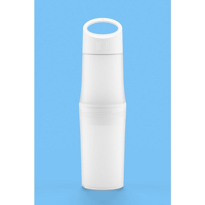 BE O Bottle | Nieuw generatie Water flessen - gemaakt van suikerriet ipv  Olie. 0.5 ltr. Wit
