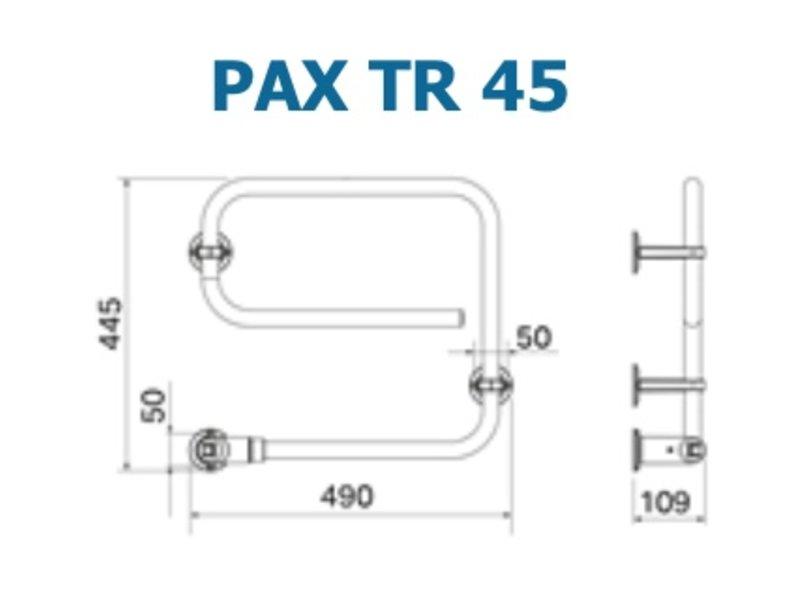 Elektrische Handdoekdroger 30w PAX 45 - WIT - GEEN verzendkosten - 3 stangen