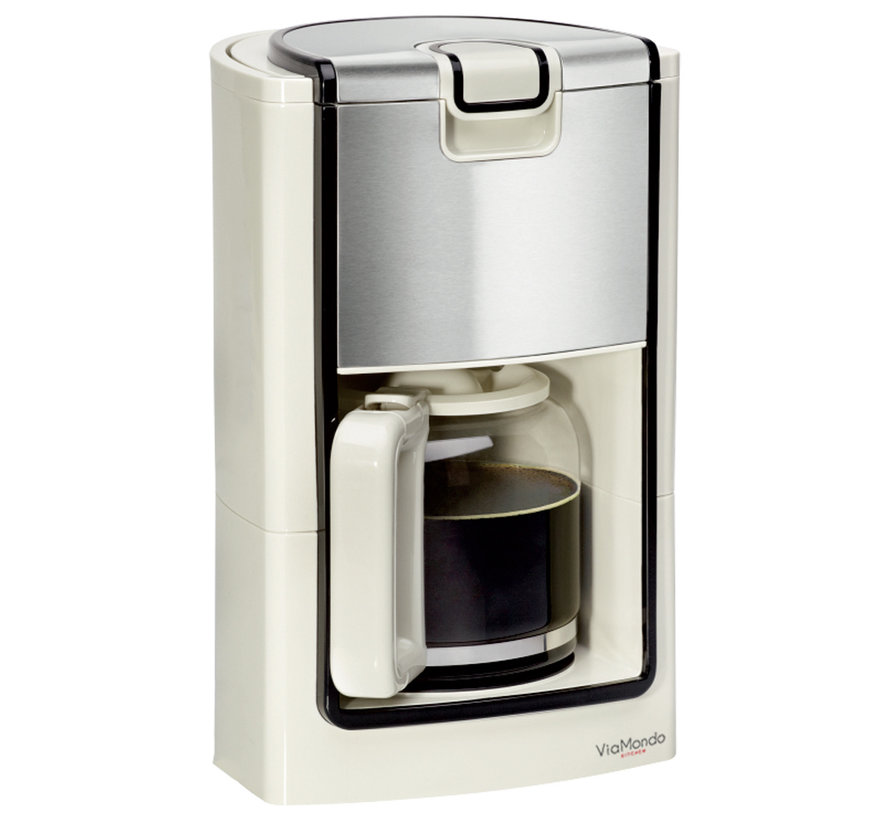 Via Mondo Koffiezetapparaat Stylisch Creme [10-12 Kops] 230V | 900W