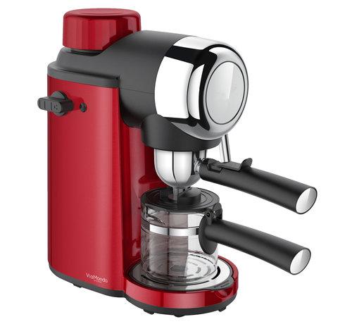 Via Mondo Espresso apparaat 4 Kops Via Mondo Vrolijk Rood 230V - 800 W