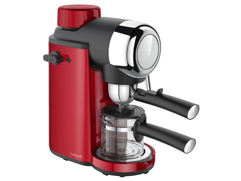 Espresso apparaat 4 Kops Via Mondo Vrolijk Rood 230V - 800 W