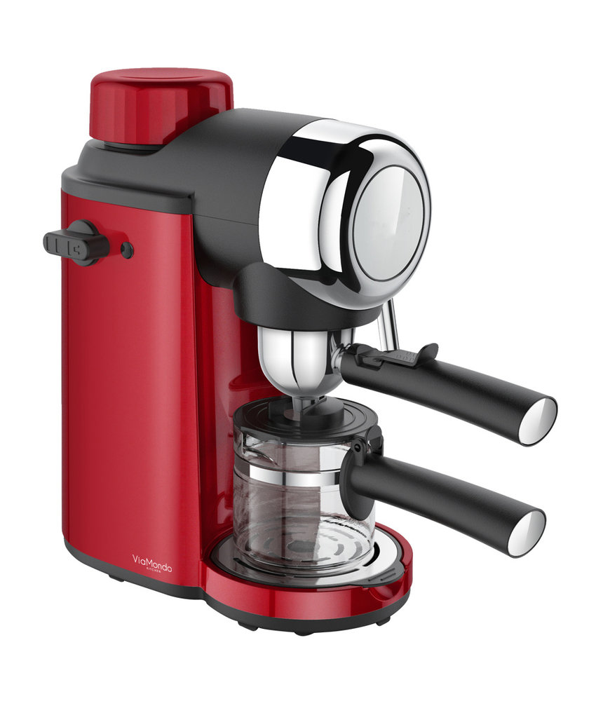 Espresso apparaat Via Mondo 4 Kops Vrolijk Rood 230V - 800 W