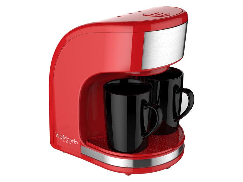 Koffiezet apparaat Vrolijk Rood 2 Kops - 230V   450W