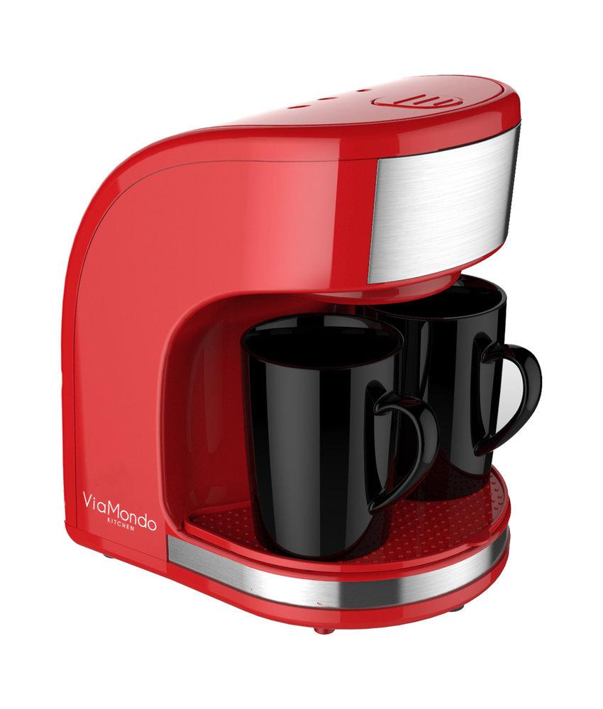 Koffiezet apparaat Vrolijk Rood 2 Kops - 230V | 450W