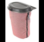 Flextrash Flextrash Afvalbak 3 liter [S] - Rosy Red [Incl clips]