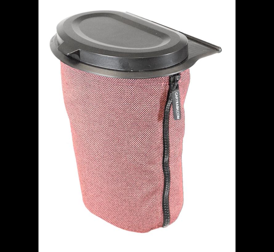 Flextrash Afvalbak 3 liter [S] - Rosy Red [Incl clips]