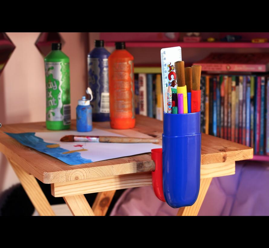 Kleur Potloden Koker  - Kleur Geel / Paars  - 1 + 1 GRATIS