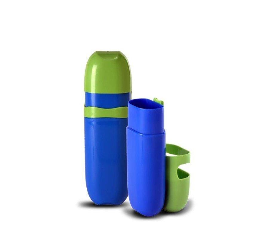 Kleur Potloden Koker - Zeer praktisch - Kleur  Groen / Blauw  - 1 + 1 GRATIS