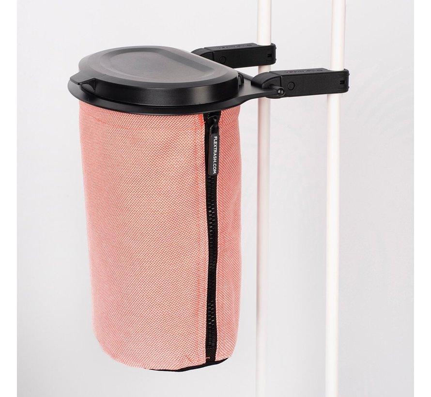 Flextrash Afvalbak 3 liter [S] - Zwart [Incl clips]