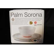 Sorona Palm Sorona Palm servies set | 4 Grote Borden | 4 kleine Borden | 4  x 1 pans gerechten kom [12-delig] - Zwart