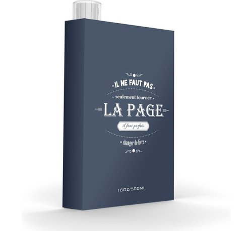 Asobu Asobu Grijze Drinkfles My Discreet La Page - 500 ml