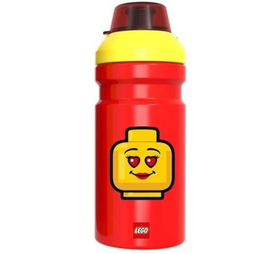 Rode LEGO Drinkfles Iconic - 390 ml