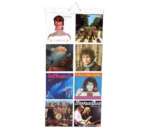 Insteekhoes voor 16 LP's  in  8 insteekvakken [ 30 x 30cm ]