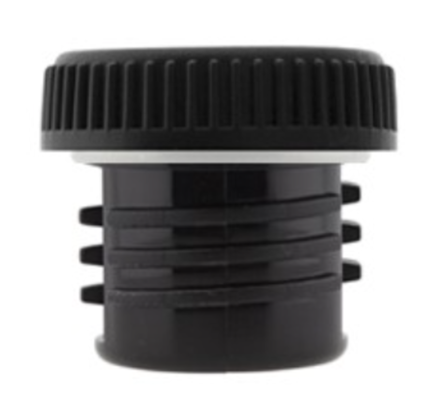 RVS fles 0,35 L Basic Steel Bottle - Zwarte lekdichte schroefdop - Merk: Laken ( Spanje )