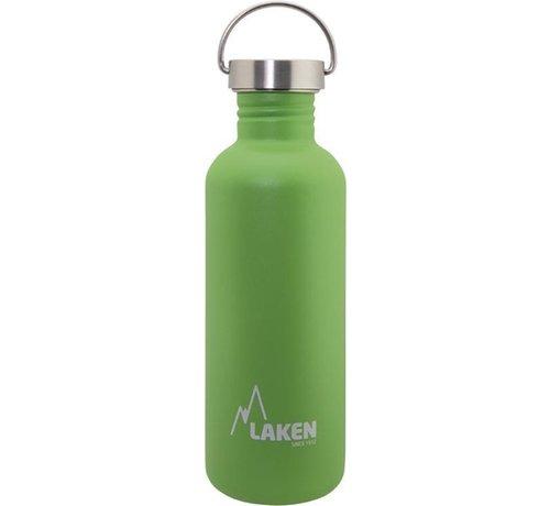 Laken RVS fles Basic Steel Bottle 1L S/S Cap - Groen