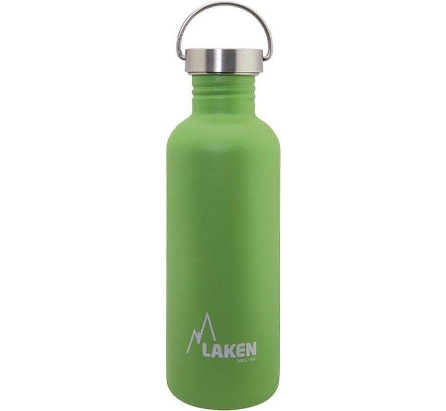 RVS fles Basic Steel Bottle 1L S/S Cap - Groen
