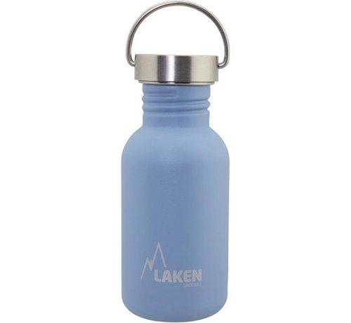 Laken RVS fles Basic Steel Bottle 500ml S/S Cap - Blauw