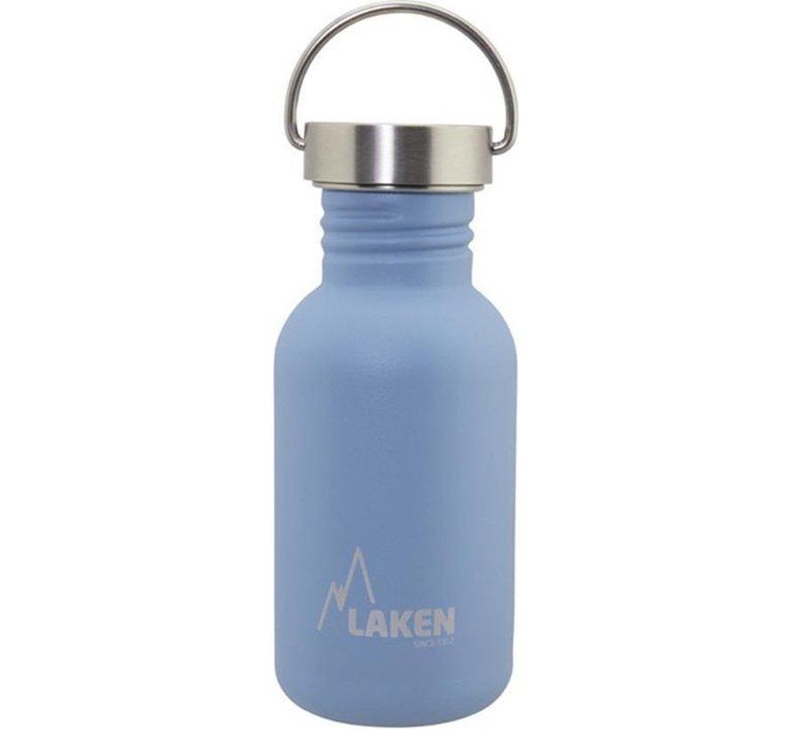 RVS fles Basic Steel Bottle 500ml S/S Cap - Blauw