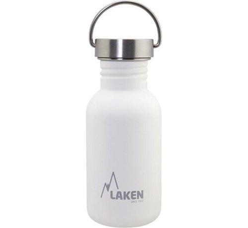Laken RVS fles Basic Steel Bottle 500ml S/S Cap - Wit