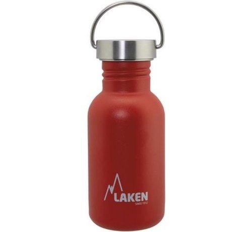 Laken RVS fles Basic Steel Bottle 500ml S/S Cap - Rood