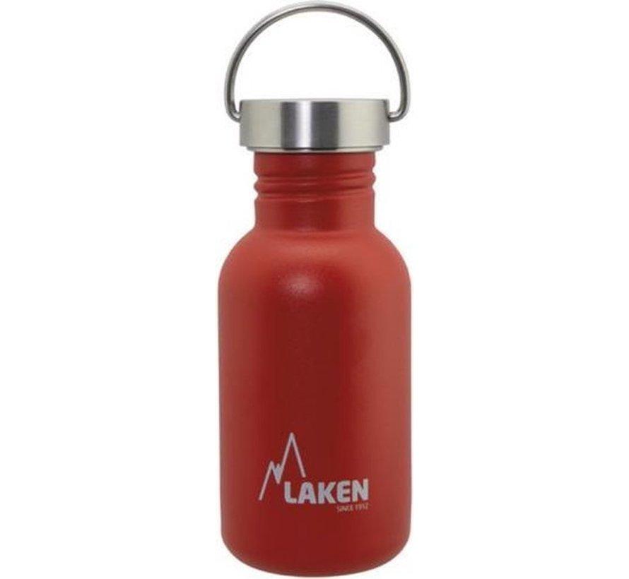 RVS fles Basic Steel Bottle 500ml S/S Cap - Rood
