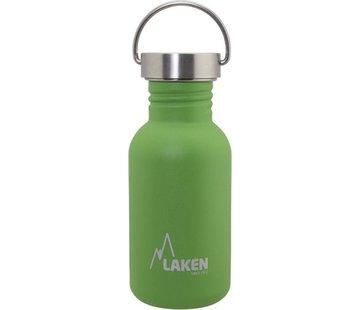 Laken RVS fles Basic Steel Bottle 500ml S/S Cap - Enkelwandig  Groen
