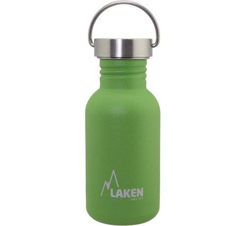 Laken RVS fles Basic Steel Bottle 500ml S/S Cap - Groen