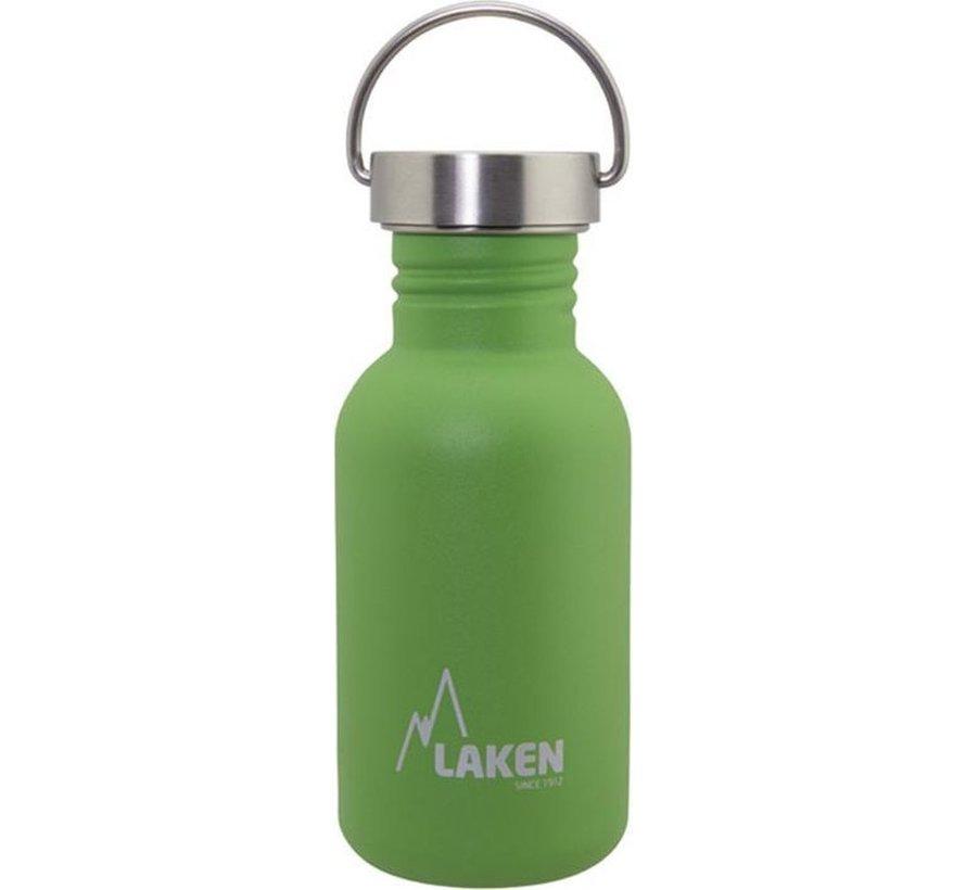 RVS fles Basic Steel Bottle 500ml S/S Cap - Groen