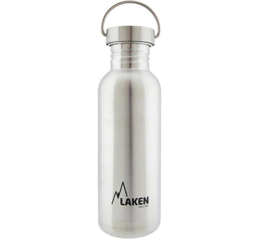 RVS fles 750ml Basic Steel Bottle - Stainless steel screw cap, Laken